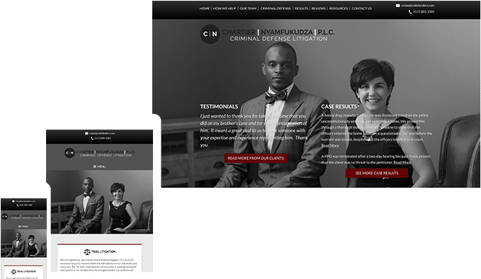 the modern firm attorney website design small law firm websites