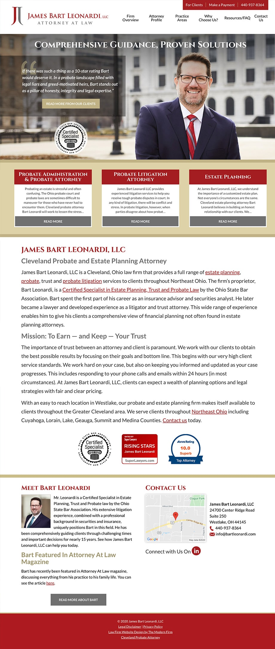 Law Firm Website Design for James Bart Leonardi, LLC