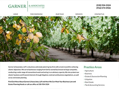 Law Firm Website design for Garner & Associates, LLP