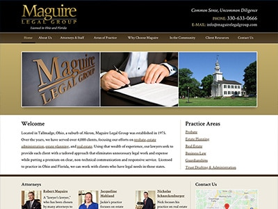 Law Firm Website design for Maguire Legal Group