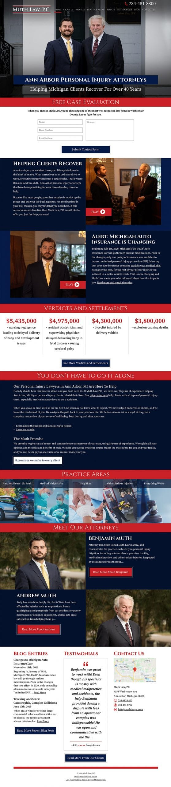 Law Firm Website Design for Muth Law, PC