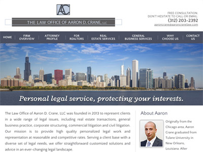 Law Firm Website design for The Law Office of Aaron D…