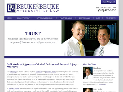 Law Firm Website design for The Law Offices of Beuke…