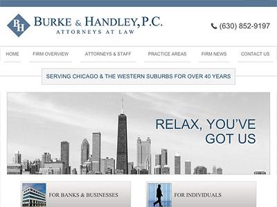 Law Firm Website design for Burke & Handley, P.C.