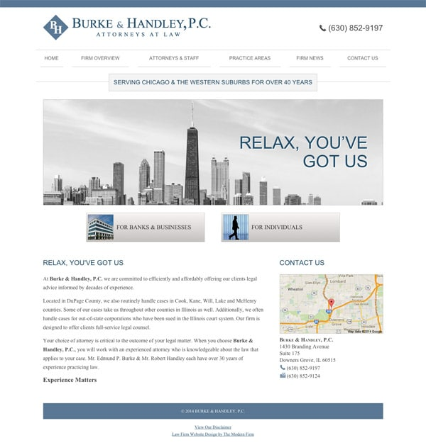 Law Firm Website Design for Burke & Handley, P.C.