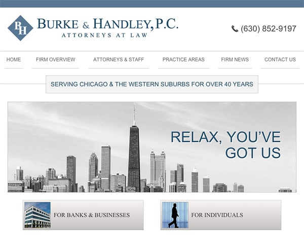 Mobile Friendly Law Firm Webiste for Burke & Handley, P.C.