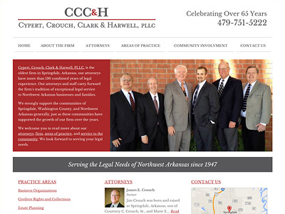 Law Firm Website design for Cypert, Crouch, Clark & H…