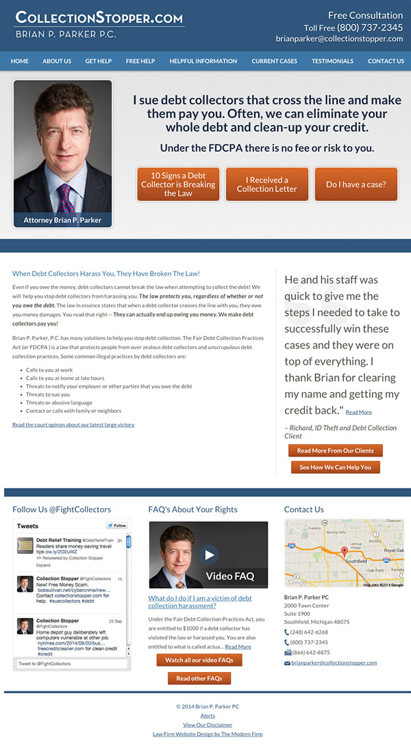 Law Firm Website Design for Brian P. Parker, PC