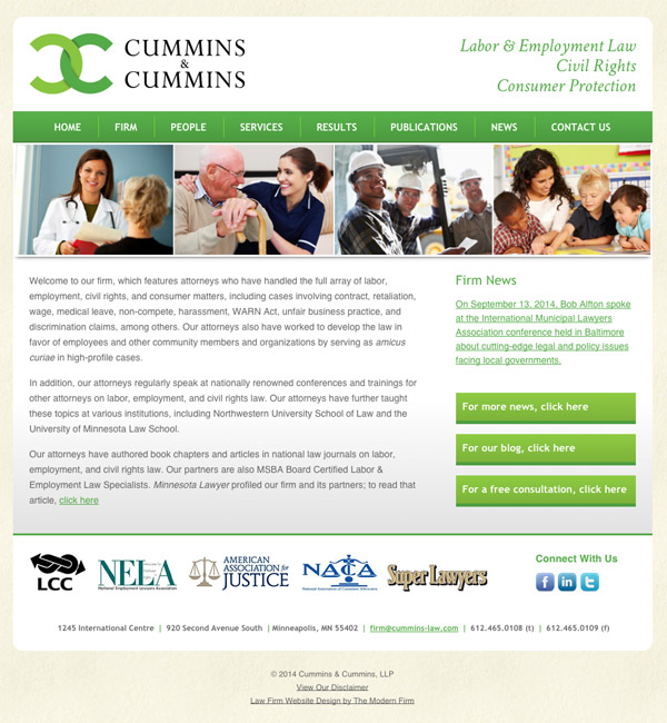 Law Firm Website Design for Cummins & Cummins, LLP