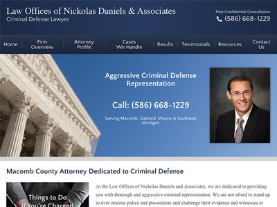 Law Firm Website design for Law Offices of Nickolas D…