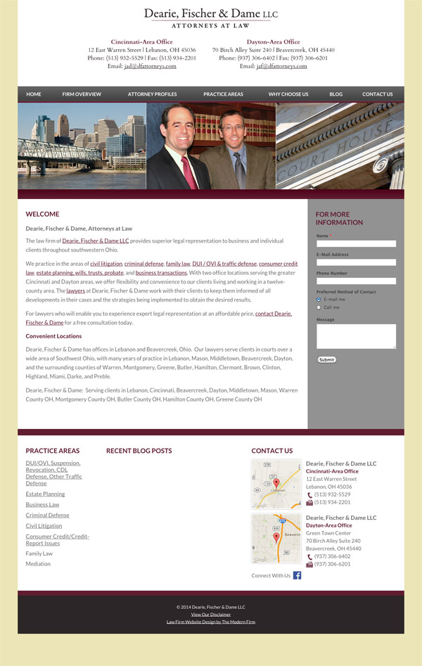 Law Firm Website Design for Dearie, Fischer & Dame LLC