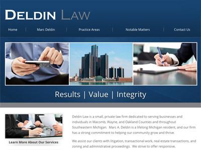 Law Firm Website design for Deldin Law