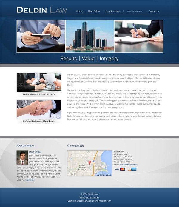 Law Firm Website Design for Deldin Law