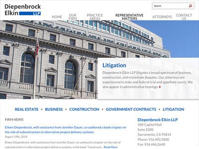 Law Firm Website design for Diepenbrock Elkin, LLP