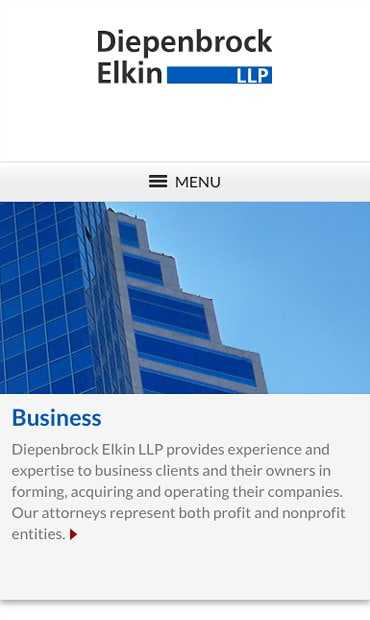 Responsive Mobile Attorney Website for Diepenbrock Elkin, LLP