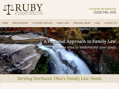 Law Firm Website design for Ruby & Associates, LPA