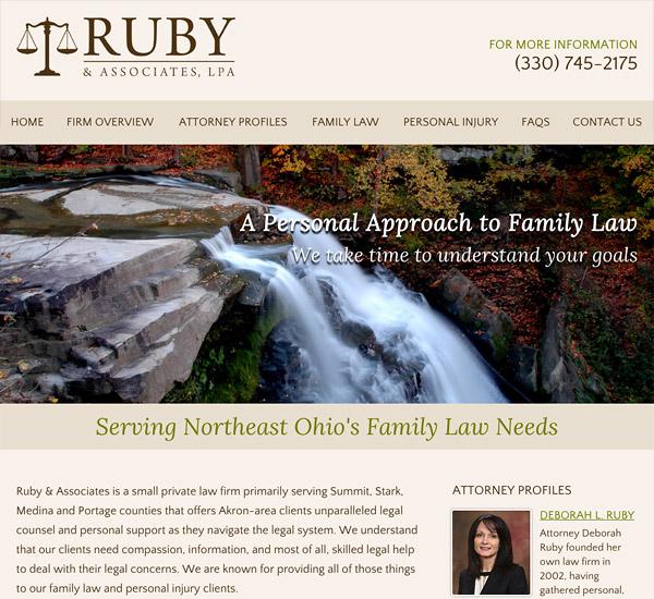 Mobile Friendly Law Firm Webiste for Ruby & Associates, LPA