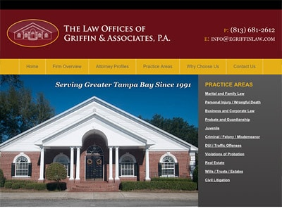 Law Firm Website design for The Law Offices of Griffi…