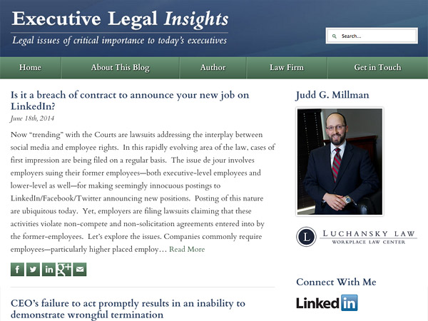 Mobile Friendly Law Firm Webiste for Judd G. Millman