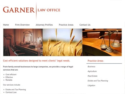 Law Firm Website design for Garner Law Office