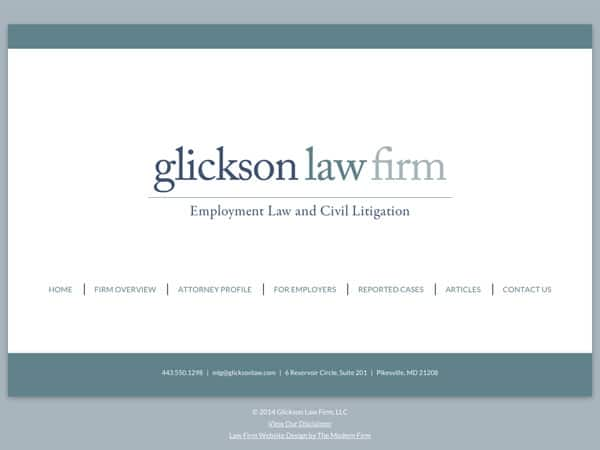 Law Firm Website Design for Glickson Law Firm, LLC