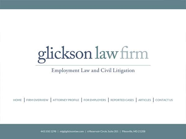 Mobile Friendly Law Firm Webiste for Glickson Law Firm, LLC