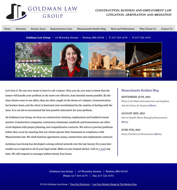 Law Firm Website Design for Goldman Law Group