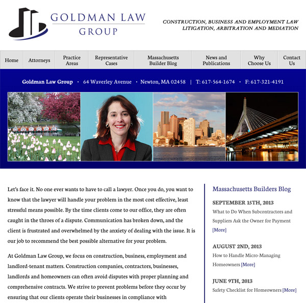 Mobile Friendly Law Firm Webiste for Goldman Law Group