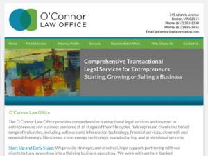 Website Design for Boston Start-Up Attorney