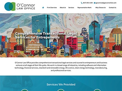 Law Firm Website design for O'Connor Law Office, P.C.