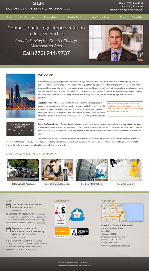 Law Firm Website Design for Law Offices of Stephen L. Hoffman