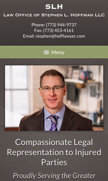 Responsive Mobile Attorney Website for Law Offices of Stephen L. Hoffman
