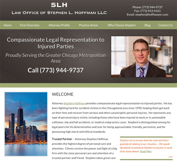 Mobile Friendly Law Firm Webiste for Law Offices of Stephen L. Hoffman