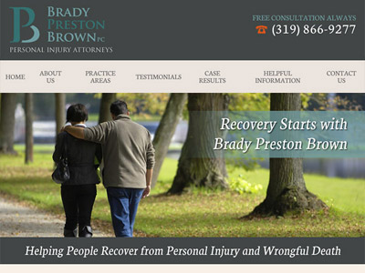 Law Firm Website design for Brady Preston Brown, PC