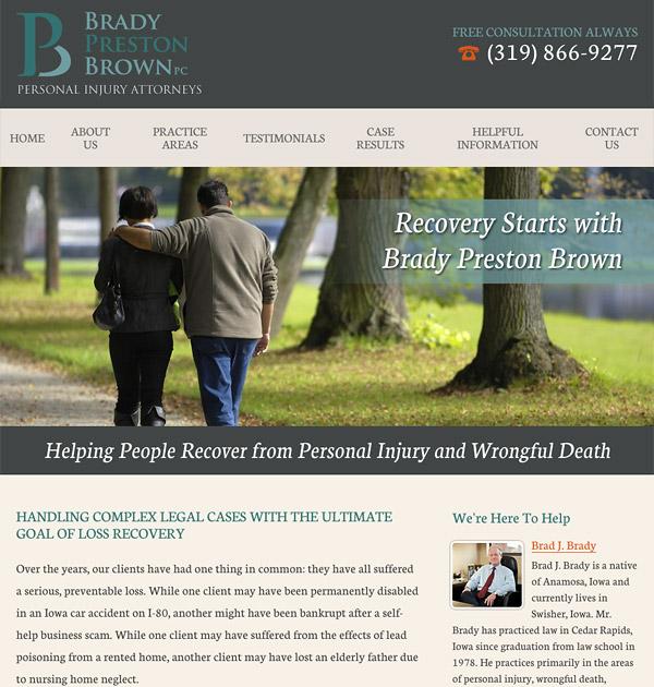 Mobile Friendly Law Firm Webiste for Brady Preston Brown, PC