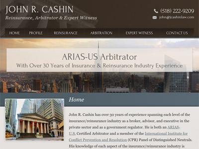 Law Firm Website design for Law Office of John R. Cas…