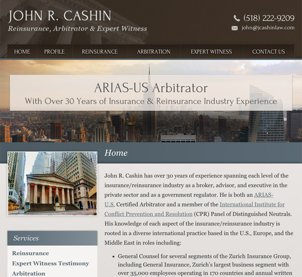 Mobile Friendly Law Firm Webiste for Law Office of John R. Cashin