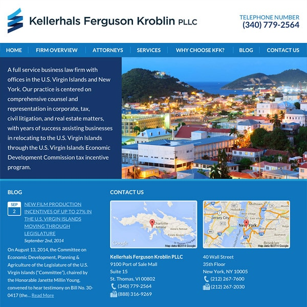 Mobile Friendly Law Firm Webiste for Kellerhals Ferguson Kroblin PLLC