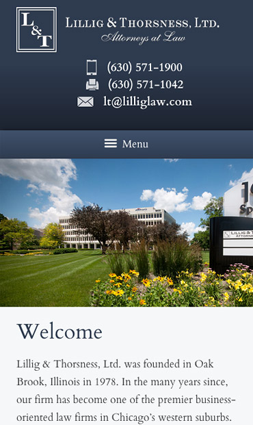 Responsive Mobile Attorney Website for Lillig & Thorsness, Ltd.