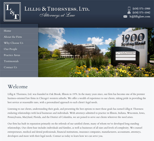 Mobile Friendly Law Firm Webiste for Lillig & Thorsness, Ltd.