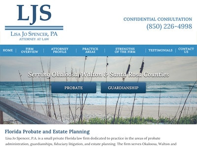 Law Firm Website design for Lisa Jo Spencer, P.A.