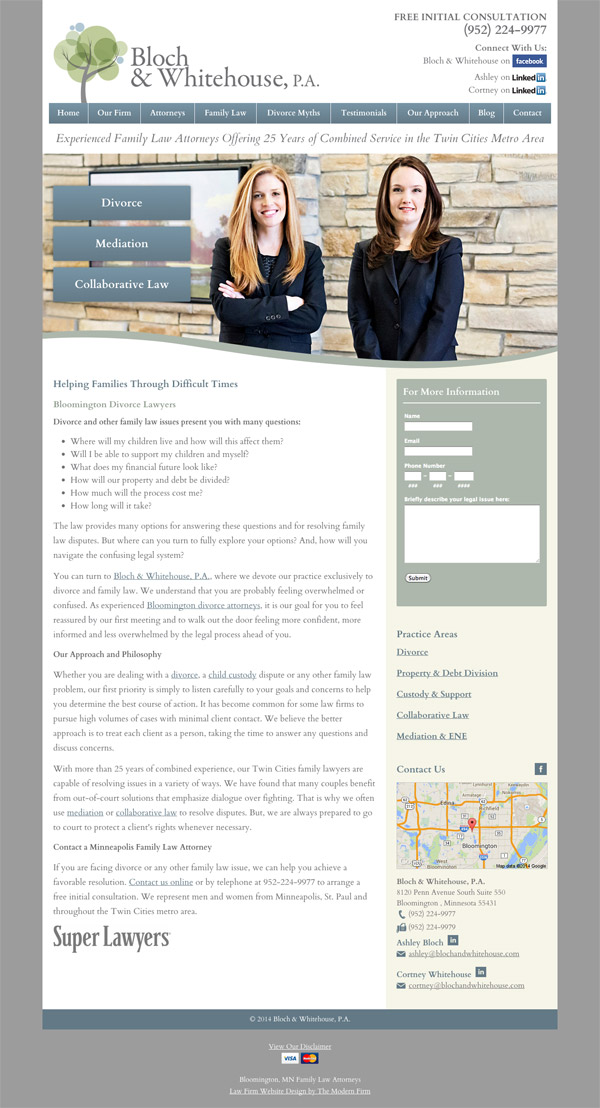 Law Firm Website Design for Bloch & Whitehouse, P.A.