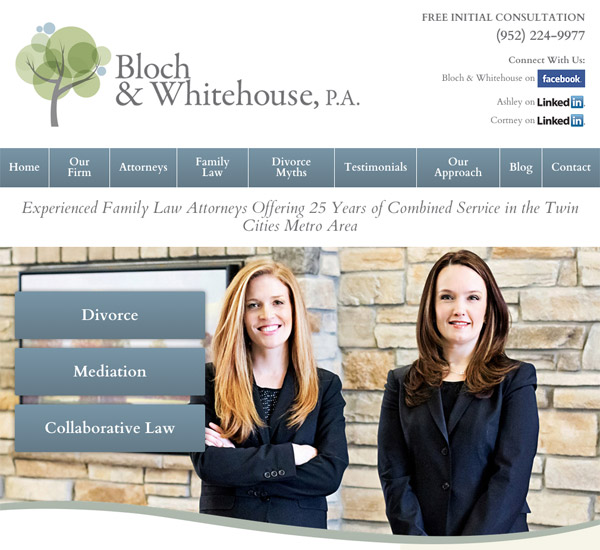 Mobile Friendly Law Firm Webiste for Bloch & Whitehouse, P.A.