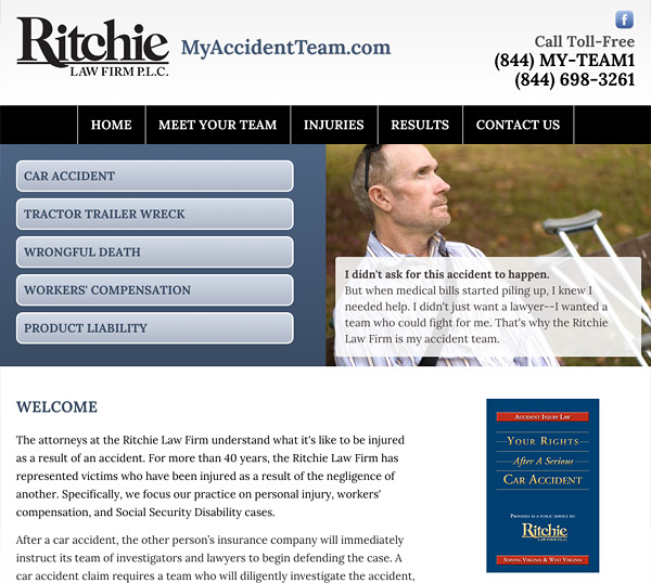 Mobile Friendly Law Firm Webiste for Ritchie Law Firm, P.L.C.