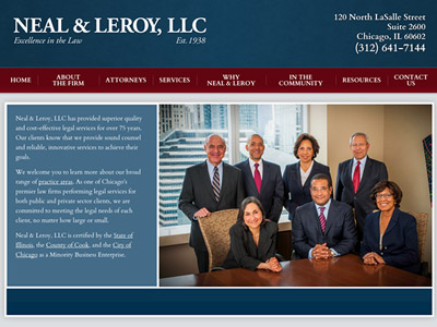 Law Firm Website design for Neal & Leroy, LLC