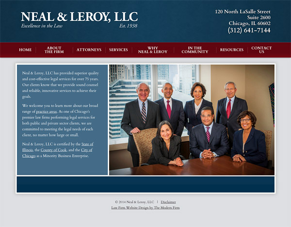 Chicago Illinois Law Firm Web Design
