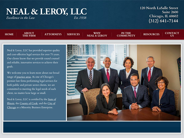 Mobile Friendly Law Firm Webiste for Neal & Leroy, LLC