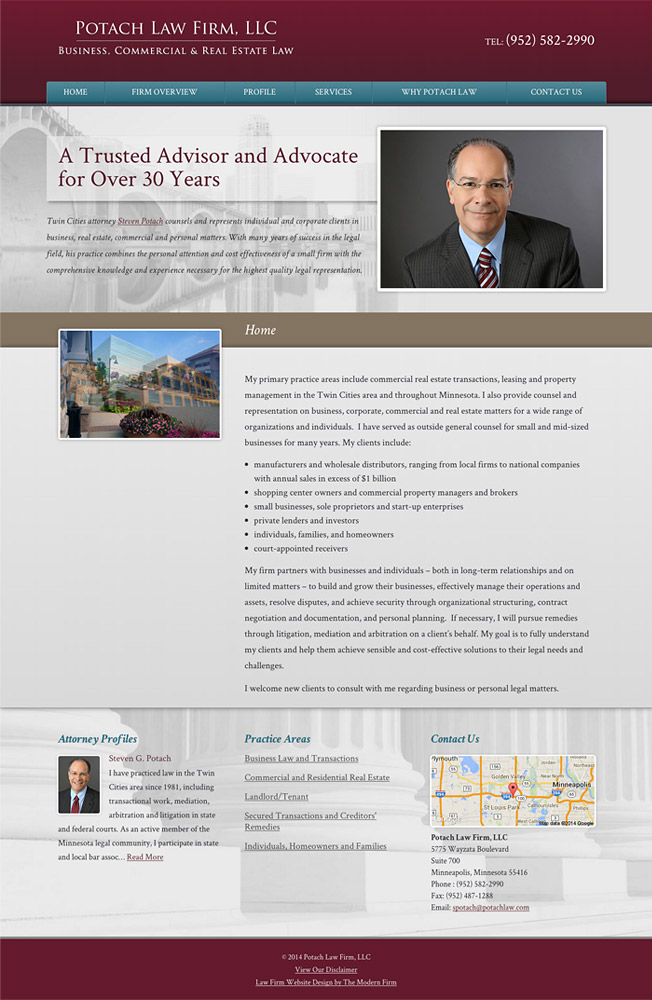 Law Firm Website Design for Potach Law Firm, LLC