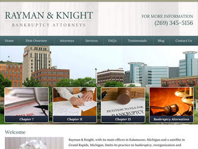 Law Firm Website design for Rayman & Knight