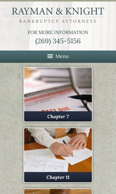 Responsive Mobile Attorney Website for Rayman & Knight